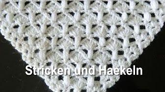 Tapete de domingo de pano – Crochet de 1 abraços de lã BOBBEL – Veronika Hug – YouTube   – Dreieckstuch