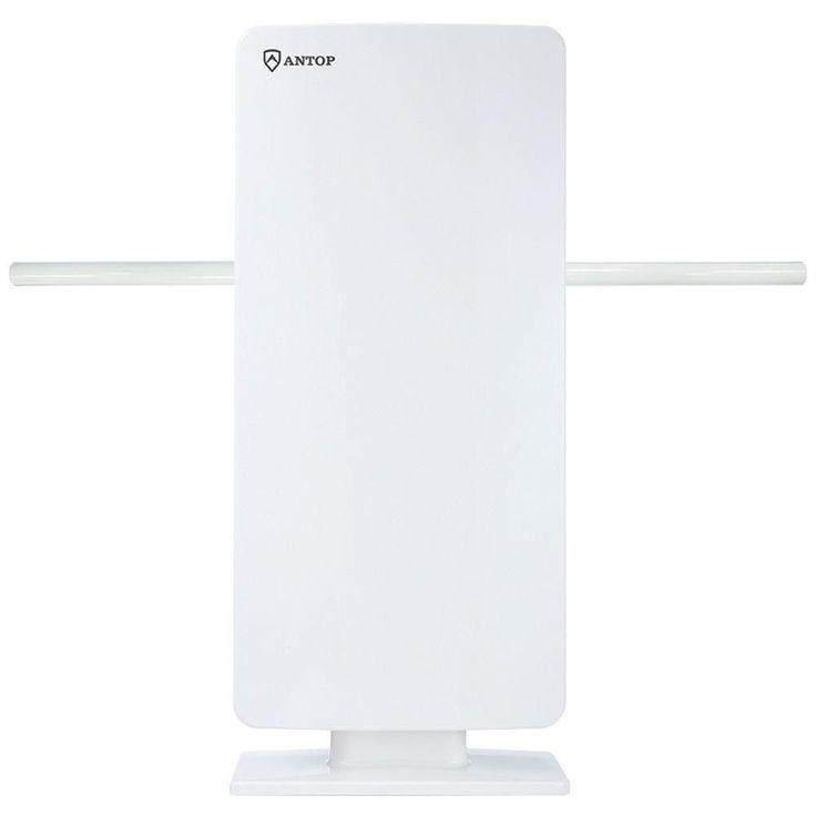 Antop Antenna Inc AT-400BV Flat Panel Smartpass Amplified Indoor-Outdoor HDTV Antenna