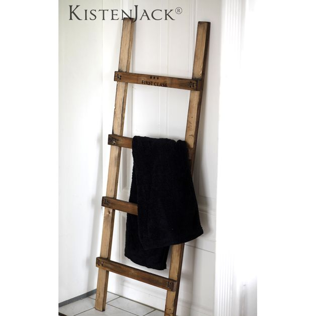 Die besten 25 sprossenleiter ideen auf pinterest kleiderablage dunkle schlafzimmer w nde und - Handtuchhalter landhausstil ...