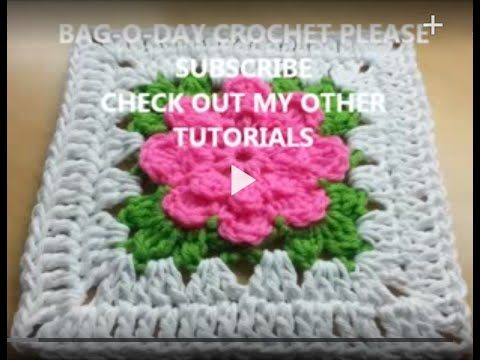 Crochet Rose Granny Square Afghan Free Patterns -