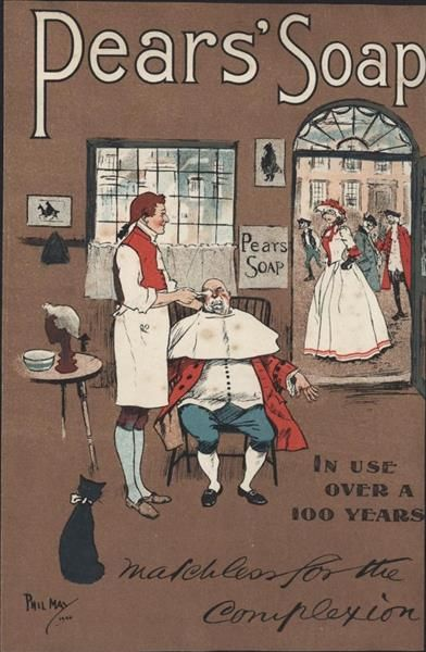 Old Shop Stuff | Old-chemist-shop-advertising-Pears-soap-shaving-barber-shop-complexion-Phil-May-Artist for sale (21653)
