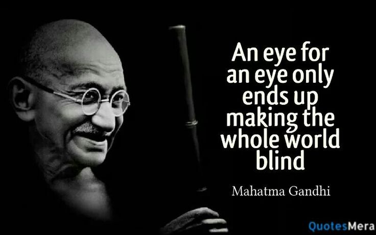 Citaten Gandhi : Mahatma gandhi quotes an eye for imgkid