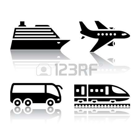 Pictogram vacation: Set of transport icons - tourist transport Illustration
