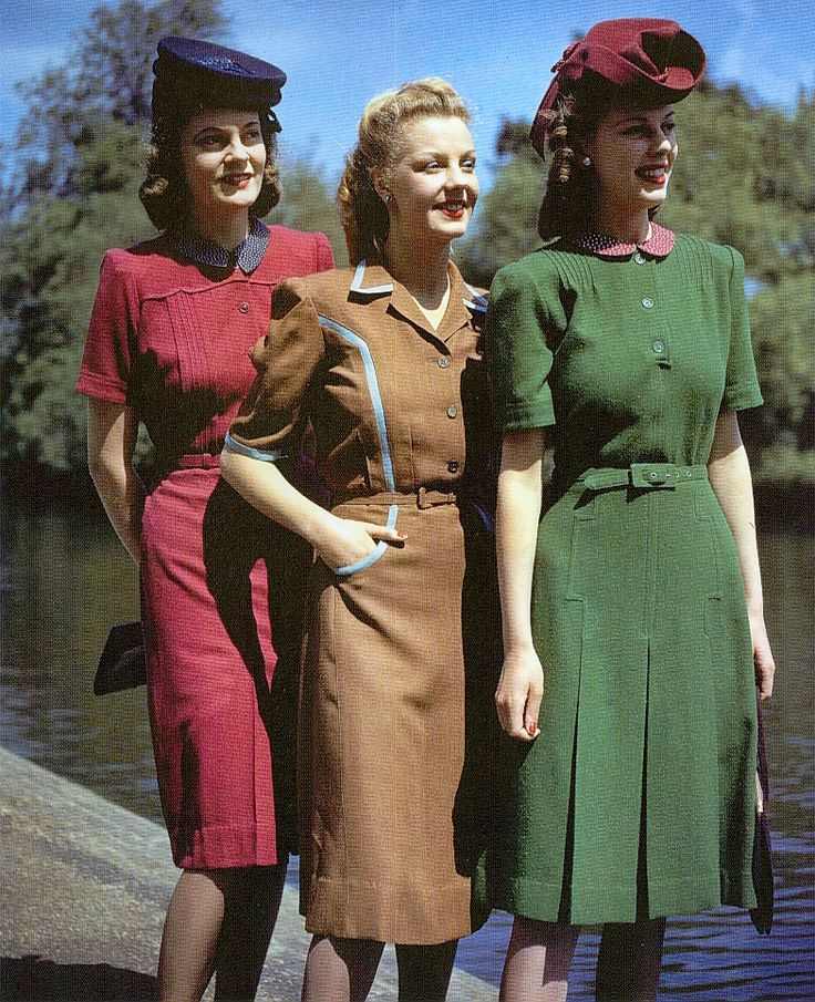 1940s fashion, British Utility dresses, WWII rationing