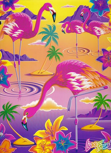 Lisa Frank Flamingos Portfolio | Nicole | Flickr