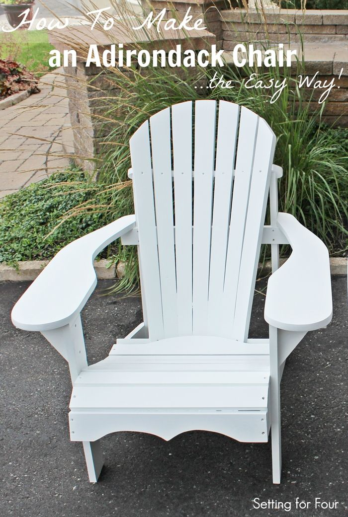 The perfect way to hang out in your backyard is to lounge in a comfortable Adirondack chair! This is the perfect project for a beginner DIY'er!