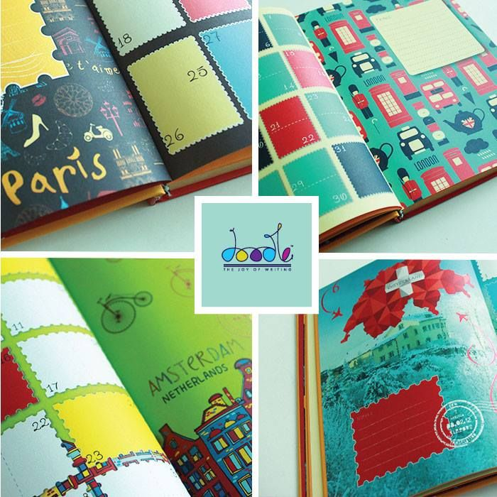 Travel through Europe with our 'Bell' doodle diary! Kick up a notch with our 'Bell' diary which makes the perfect travelogue. That's all you need when you are on a vacation! Buy one for you now - https://goo.gl/WGrSxS ‪#‎Travel_Diaries‬ ‪#‎Premium_Diaries‬ ‪#‎YRF‬ ‪#‎Bell‬