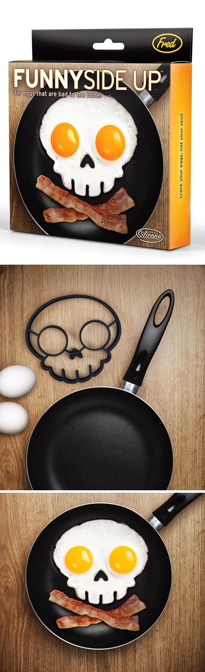 Cool product   skull   egg   food  FUNNY SIDE UP - SKULL EGG SHAPER
