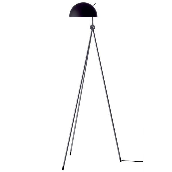 Radon floor lamp, black