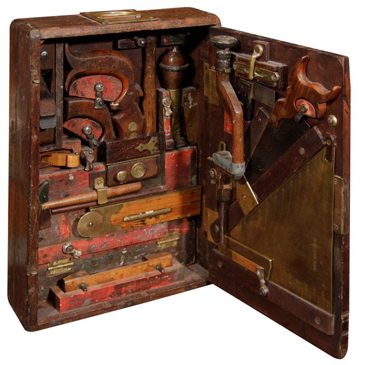 Rare 19th Century Fitted Tool Box, 19th century. This amazing toolbox ...