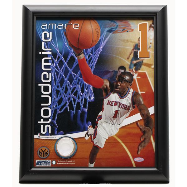 Amar'e Stoudemire New York Knicks 11'' x 14'' Framed Collectible Picture with Game Worn Uniform Swatch - $20.99
