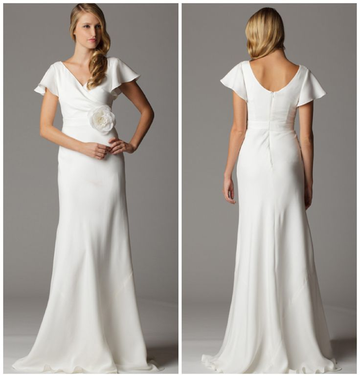 wedding dresses with sleeves | Crew Gown – The Principessa gown from J.Crew is the perfect ...