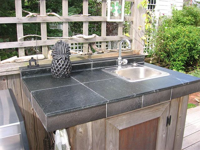 Caring For Soapstone Tile Countertops Outdoor Kitchen