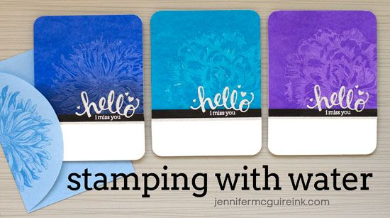 Video: Stamping With Water + Discount + Giveaway | Jennifer McGuire Ink