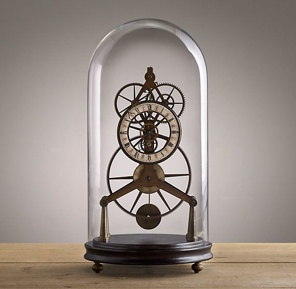 19th C. French Grasshopper Clock Cloche from Restoration Hardware