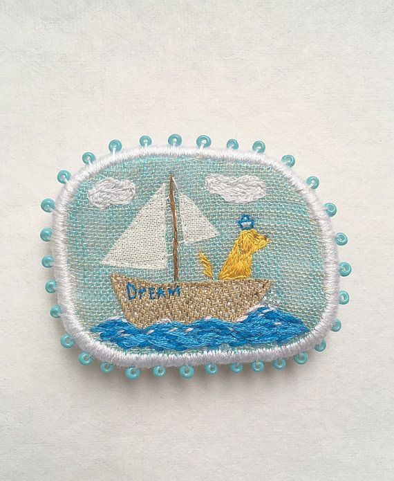 Hey, I found this really awesome Etsy listing at https://www.etsy.com/ru/listing/398535789/textile-pet-portrait-brooch-sea-dog