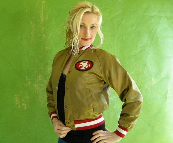 gold 49ers jacket I sure wish I had my dads jacket!!!