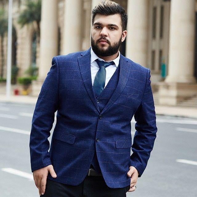 10 Fashion Tips for Plus-Size Men to Wear in Office | Pouted.com | Mens  fashion blazer, Plus size men, Big men fashion