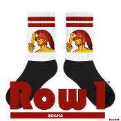 1955 Row 1™ USC Trojan Ticket Socks by Row One™, retro ticket socks, vintage ticket socks, USC Trojans socks, Row1