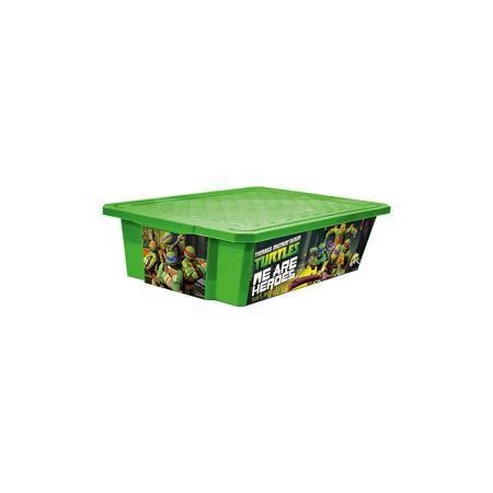 """Little Angel Ящик для хранения игрушек """"X-BOX"""" """"Черепашки ниндзя"""" 30л на колесах, Little Angel, зеленый  — 920р.  Ящик для хранения игрушек """"X-BOX"""" """"Черепашки ниндзя"""" 30 л на колесах, Little Angel, зеленый изготовлен отечественным производителем . Выполненный из высококачественного пластика, устойчивого к внешним повреждениям и изменению цвета, ящик станет не только необходимым предметом для хранения детских игрушек и принадлежностей, но и украсит детскую комнату своим ярким дизайном. По…"""