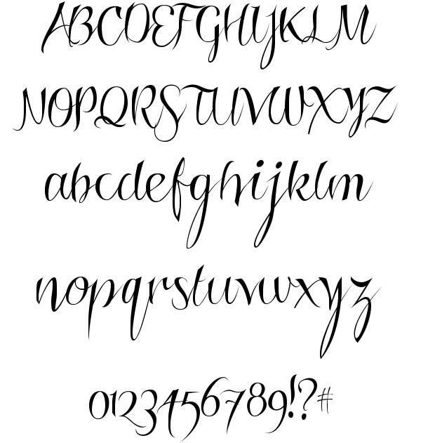 "free handwritten font: Roskrift clean ""...looks like it's been written with a calligraphy pen"" #free #font #Download"