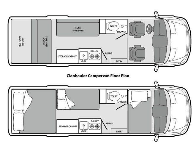 Image Result For Mercedes Sprinter Camper Floor Plans With Images