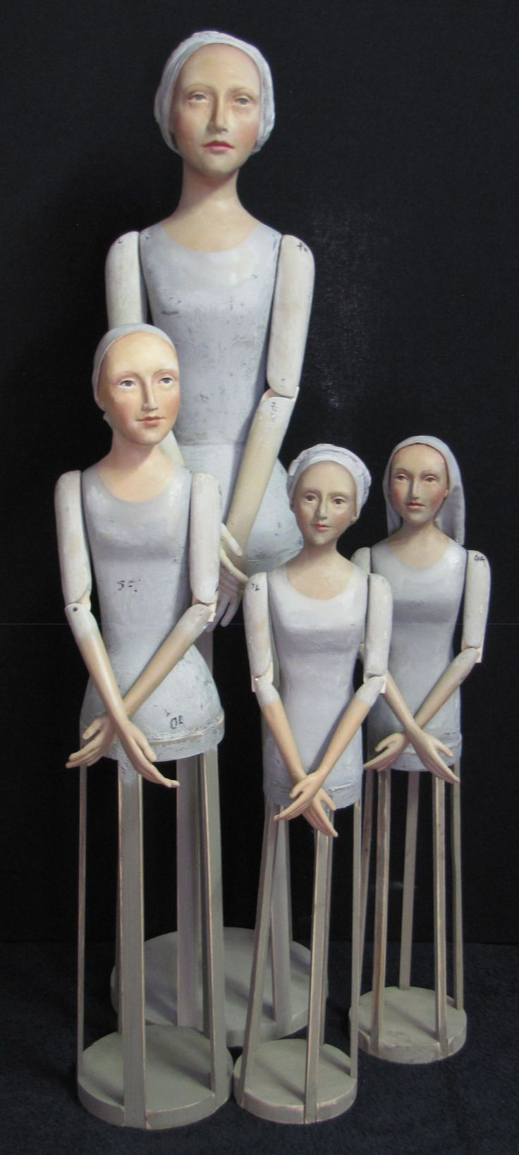 Grey series cage mannequins. The cage is a frame that would give support to a dressed mannequin