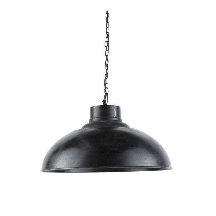 Lampadario nero stile industriale in metallo effetto anticato D 56 cm SPRINGFIELD