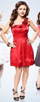 Vestido vermelho - Erin Karpluk - Being Erica