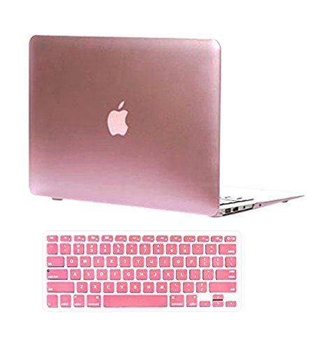 "Versality Perfect Fit Hard Case Cover for MacBook Pro 13"" with CD Room (Model: A1278) and Matching Keyboard Cover in Rose Gold Metallic"
