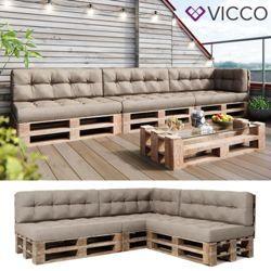Sinta-se confortável com almofadas para o seu sofá de palete DIY – Vicco Palettenki …