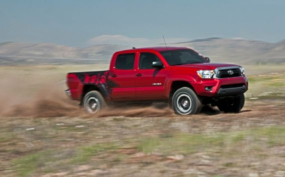 Ripping around in the Toyota Tacoma TRD TX Baja