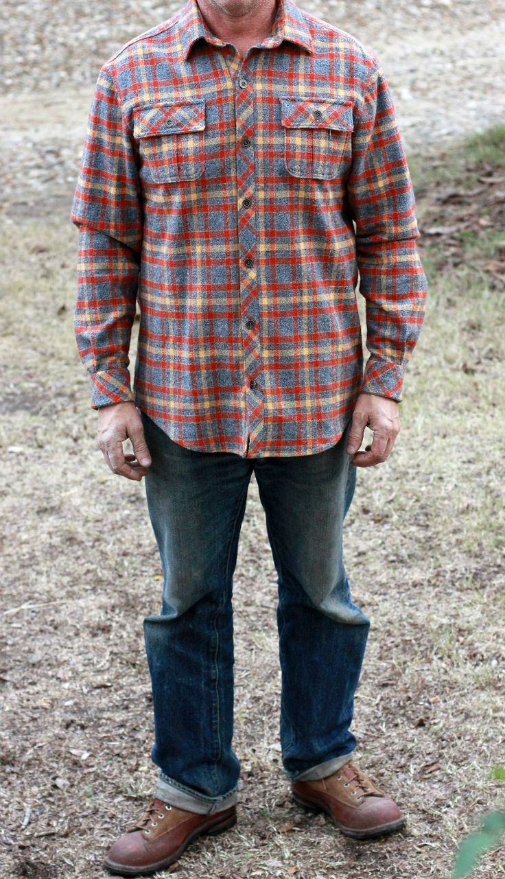 McCall's 6613 men's flannel shirt and Craftsy Shirt Class Review