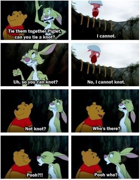 Pooh Bear :) this made me laugh way too much