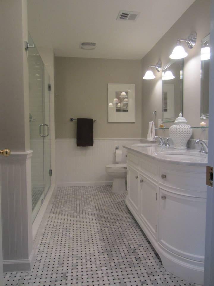 My Master Bath Remodel Basketweave Carrara Marble Tile