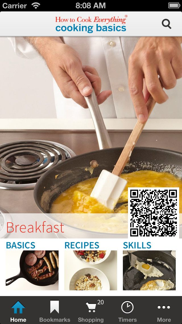 Scan QR Code to download. Cooking Basics brings an