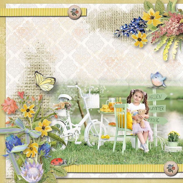 """Misty Morning Meadow"" by Alexis Design Studio  http://www.thedigichick.com/shop/Misty-Morning-Meadow-Digital-Kit.html  RAK for a friend Emilija"