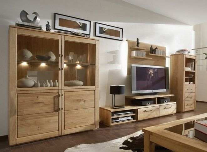 wandfarbe wohnzimmer - Wohnzimmer Wildeiche Massiv