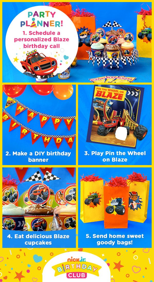 Sign up for the Nick Jr. Birthday Club to get everything you need to plan an awesome Blaze and the Monster Machines birthday extravaganza!