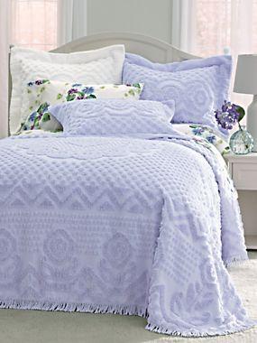 Heirloom Cotton Chenille Bedspread   Blair