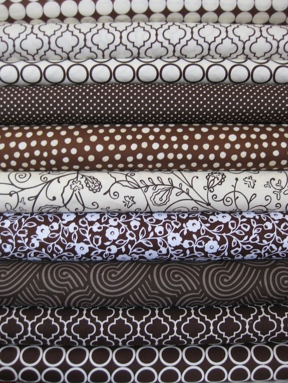 Fabricworm Stash Builders, Leather, in FAT QUARTERS, 10 Total