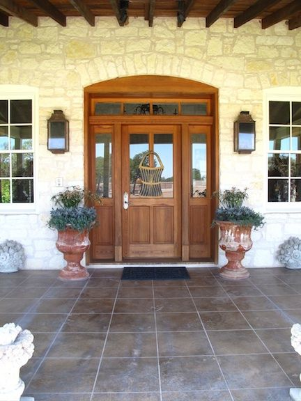 "Texas hill country front Doors | Behind these doors lives a very gracious lady -- a real ""girlfriend,"""