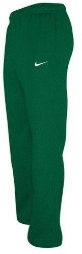 Nike Club Swoosh Men's Fleece Sweatpants Pants Classic Fit, Medium - Dark Green/White
