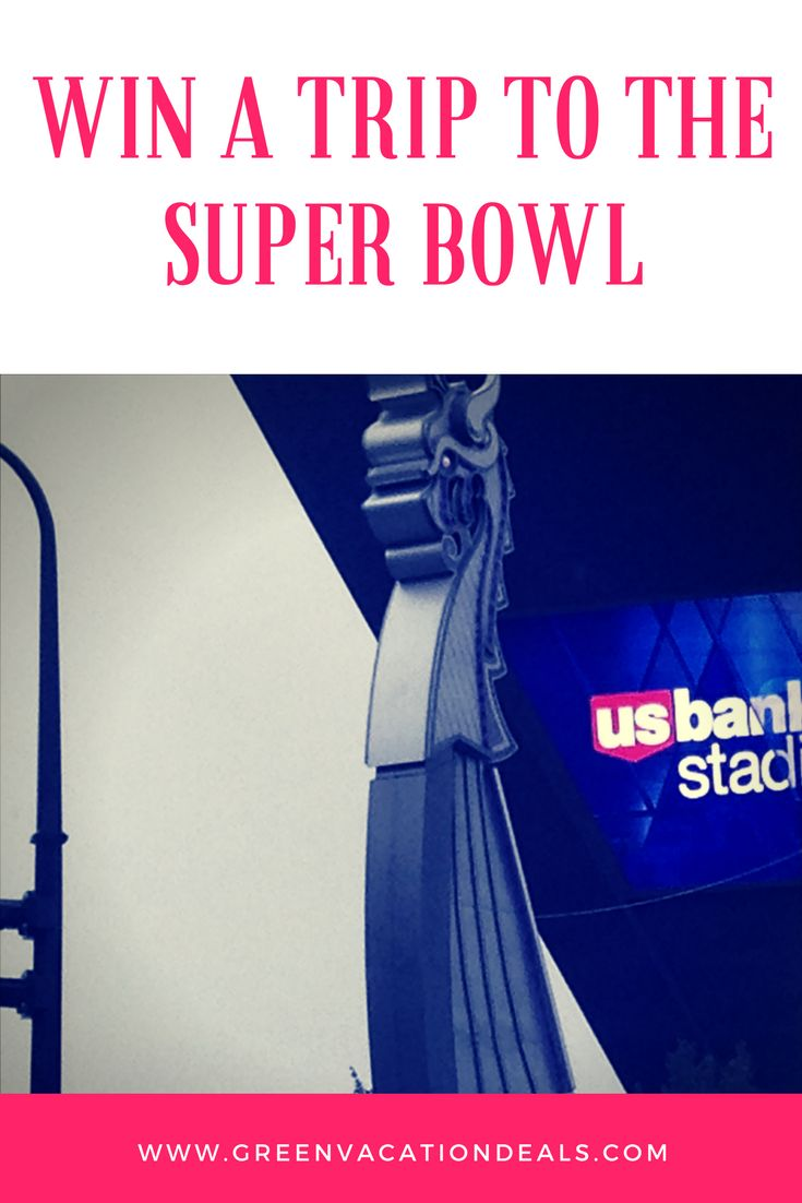 Minneapolis Travel Giveaway - win a trip to the Super Bowl in Minnesota in 2018. Grand prize includes hotel stay, tickets to the Super Bowl & 1 night in a Courtyard suite in U.S. Bank Stadium.