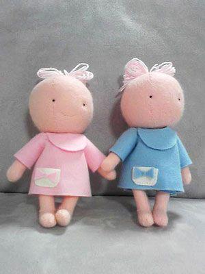 まきまきっくすののんびり生活 手作り人形その3~フエルトであかちゃん~ 手作り人形その3~フエルトであかちゃん~