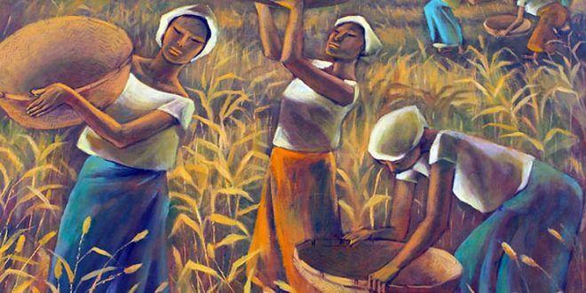 ANITA MAGSAYSAY-HO (1914/2012), FILIPINO PAINTER – Painted women exuding a joyous glow, unfettered by worldly concerns.