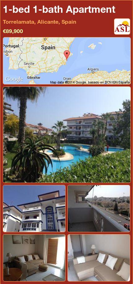 1-bed 1-bath Apartment in Torrelamata, Alicante, Spain ►€89,900 #PropertyForSaleInSpain