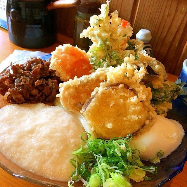 ⁂ 最近のマイブーム👆 まつみのうどん🤤 天ぷらも美味しいし牛玉うどんも好き💓  #高知#麺#まつみ#うどん#天ぷら#肉#牛玉うどん#山芋#マイブーム#ランチ#昼ご飯#ranch