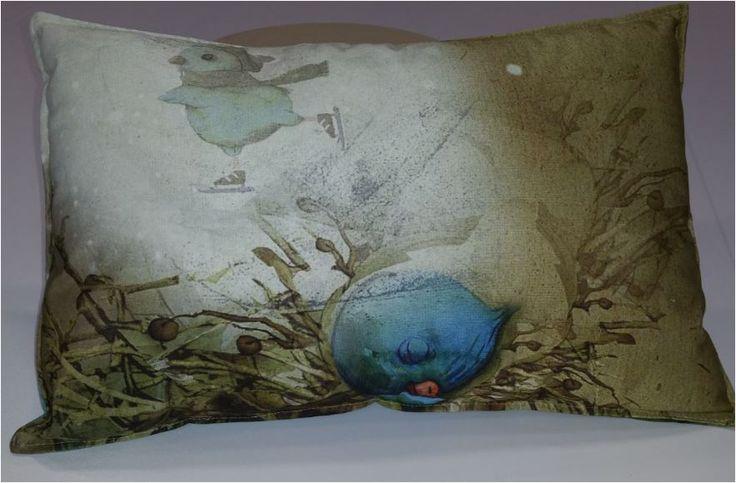 Betoverende #illustraties van Jenny Bakker op sierkussens. Kinderboeken worden voorzien van deze prachtige illustraties. Decoratie voor kinderkamers.