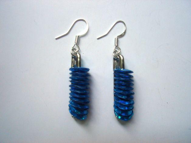 safety pins - earrings http://pl.dawanda.com/shop/Ocelotka